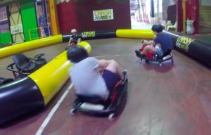 Vidéo animation karting connecté