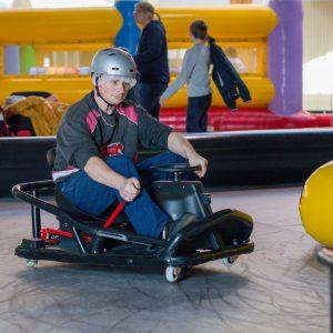 Course de karting connecté